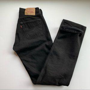 Levi's 501 Black Button Fly Denim ◾ 100% Cotton Jeans ◾ Size 27